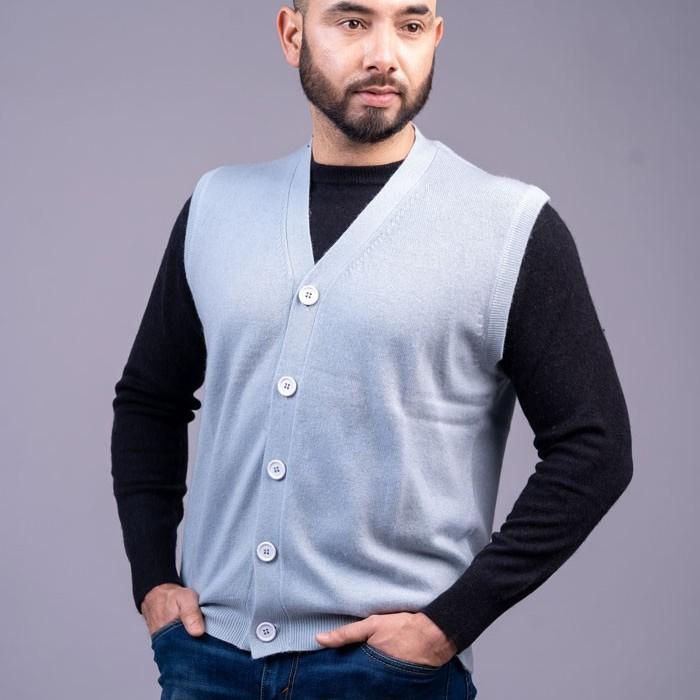100% Pure Cashmere Gents Half Cardigan