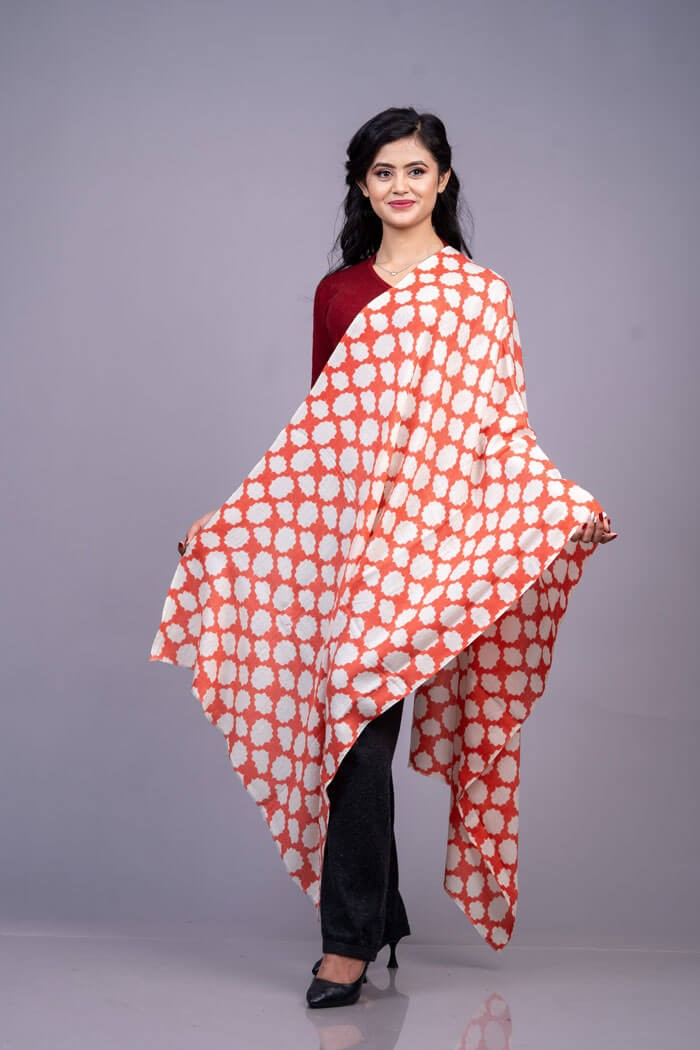 """100% Cashmere Printed Stole 28""""×80"""""""