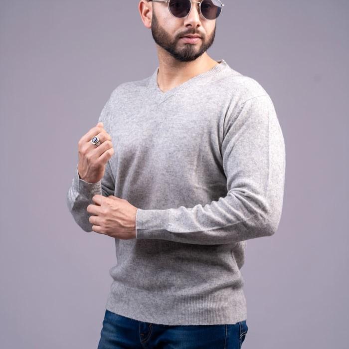 100% Pure Cashmere Gents V-neck Pullover